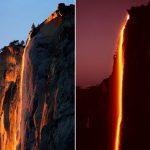 Dòng thác nước đỏ rực như lửa ở Mỹ